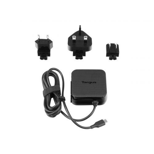 Targus Universal USB-C Mains Charger - Power adapter - 45 Watt - 3 A (USB-C) - black - United Kingdom, United States, Europe