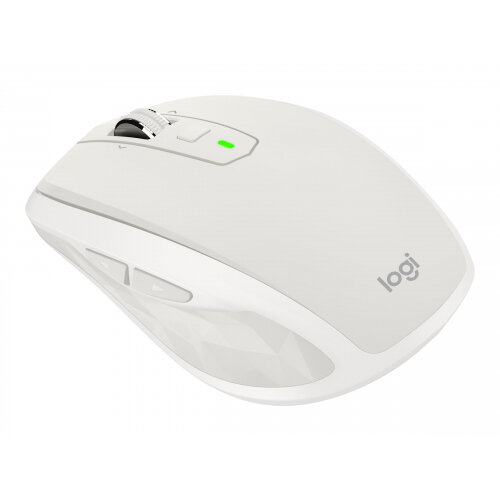 Logitech MX Anywhere 2S - Mouse - laser - 7 buttons - wireless - Bluetooth, 2.4 GHz - USB wireless receiver - light grey