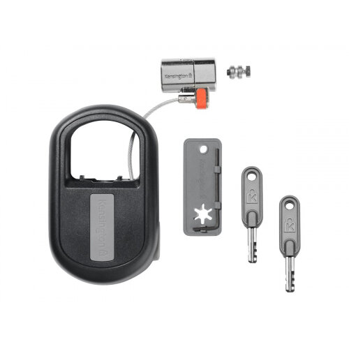 Kensington ClickSafe Keyed Retractable Laptop Lock - Security cable lock - black - 1.21 m