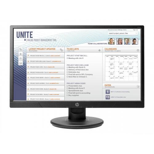 "HP V214a - LED Computer Monitor - 20.7"" (20.7"" viewable) - 1920 x 1080 Full HD (1080p) - TN - 200 cd/m² - 600:1 - 5 ms - HDMI, VGA - speakers - black"