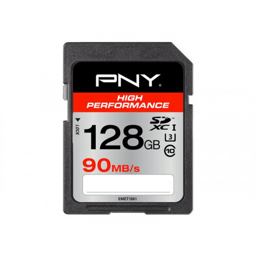 PNY High Performance - Flash memory card - 128 GB - UHS Class 3 / Class10 - SDXC UHS-I