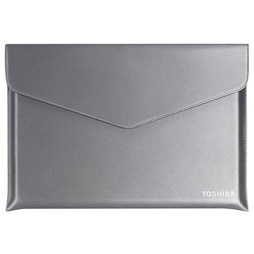 "Toshiba Ultrabook Sleeve - Notebook sleeve - 13.3"" - silver with hairline structure - for Portégé A30, X30, Z30, Z30T; Satellite Z30, Z30t"