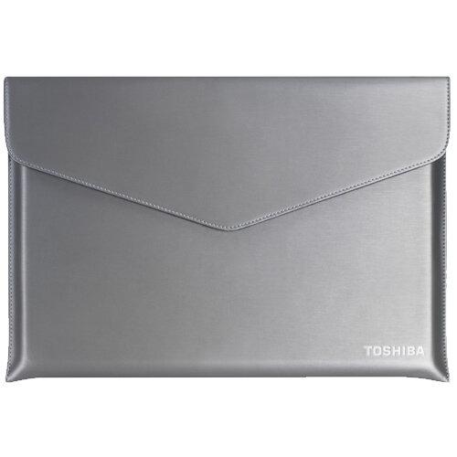 "Toshiba Laptop Sleeve - Notebook sleeve - 14"" - silver with hairline structure - for Portégé Z40; Tecra X40, Z40, Z40T"