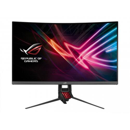 """ASUS ROG Strix XG32VQ - LED Computer Monitor - curved - 31.5"""" - 2560 x 1440 WQHD - VA - 300 cd/m² - 3000:1 - 4 ms - HDMI, DisplayPort, Mini DisplayPort - red, dark grey"""