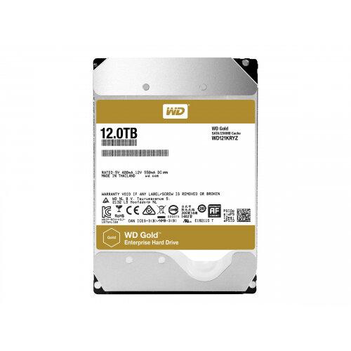 """WD Gold Enterprise-Class Hard Drive WD121KRYZ - Hard drive - 12 TB - internal - 3.5"""" - SATA 6Gb/s - 7200 rpm - buffer: 256 MB"""
