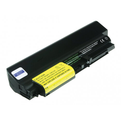 2-Power Main Battery Pack - Laptop battery (extended capacity) - 1 x Lithium Ion 9-cell 6900 mAh - black - for ThinkPad R400; R61 7732, 7733, 7734, 7735, 7736; T400; T61 1959, 6377, 6378, 6379, 6480