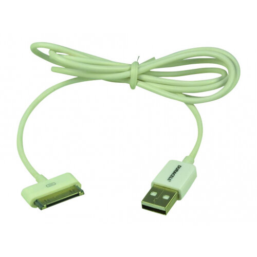 Duracell - Charging / data cable - USB (M) to Apple Dock (M) - 1 m - white - for Apple iPad/iPhone/iPod (Apple Dock)
