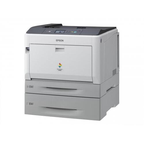 Epson AcuLaser C9300TN - Printer - colour - laser - A3/Ledger - 1200 dpi - up to 30 ppm (mono) / up to 30 ppm (colour) - capacity: 955 sheets - USB, Gigabit LAN
