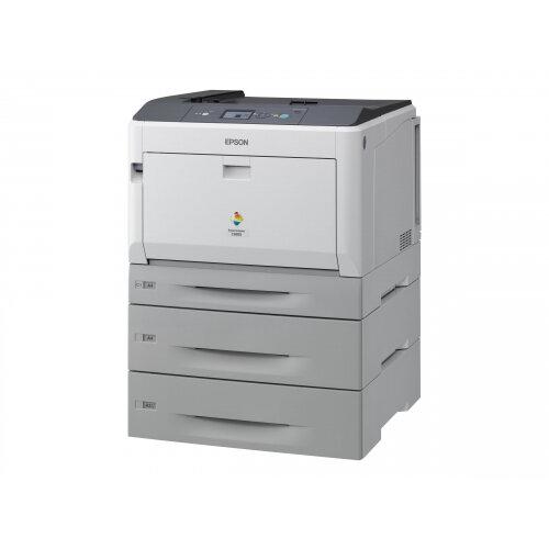 Epson AcuLaser C9300D2TN - Printer - colour - Duplex - laser - A3/Ledger - 1200 dpi - up to 30 ppm (mono) / up to 30 ppm (colour) - capacity: 1505 sheets - USB, Gigabit LAN