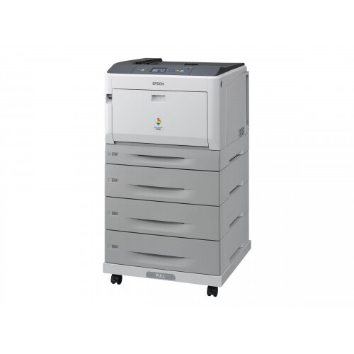 Epson AcuLaser C9300D3TNC - Printer - colour - Duplex - laser - A3/Ledger - 1200 dpi - up to 30 ppm (mono) / up to 30 ppm (colour) - capacity: 2055 sheets - USB, Gigabit LAN