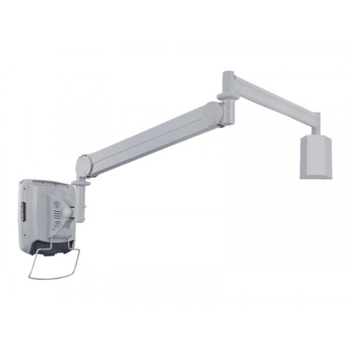 """NewStar Medical Monitor Wall Mount (Full Motion gas spring) for 10""""-30"""" Screen - Grey - Adjustable arm for medical monitor - medical - grey - screen size: 10""""-32"""" - wall-mountable"""