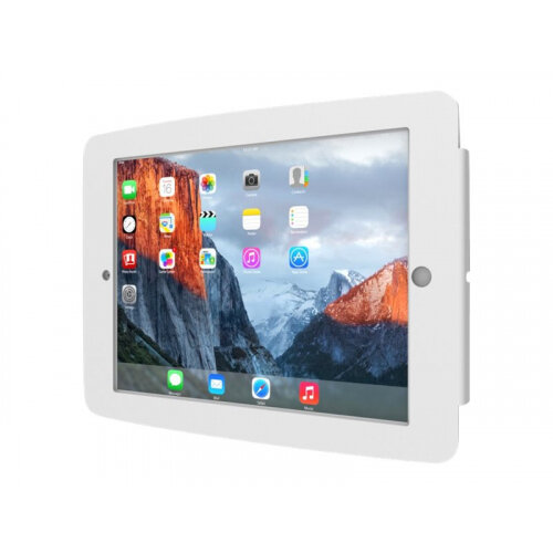 """Compulocks Space iPad Enclosure Wall Mount - Enclosure for tablet - lockable - high-grade aluminium - white - screen size: 10.5"""" - mounting interface: 100 x 100 mm - wall-mountable - for Apple 10.5-inch iPad Pro"""