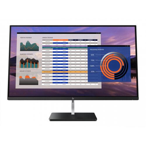 "HP EliteDisplay S270n - LED Computer Monitor - 27"" - 3840 x 2160 4K - IPS - 350 cd/m² - 1300:1 - 5.4 ms - 2xHDMI, DisplayPort, USB-C - black, chrome plated, black onyx (base)"