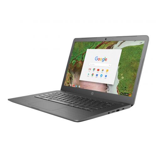 "HP Chromebook 14 G5   Laptop - Celeron N3350 / 1.1 GHz - Google Chrome OS 64 - 4 GB RAM - 32 GB eMMC - 14"" IPS touchscreen 1920 x 1080 (Full HD) - HD Graphics 500 - Wi-Fi, Bluetooth - kbd: UK"