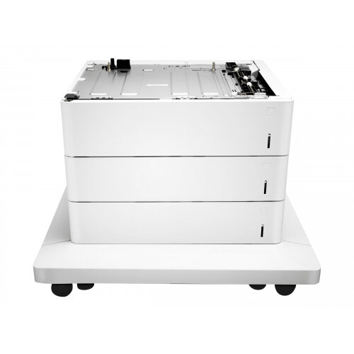 HP Paper Feeder and Stand - Media tray / feeder - 1650 sheets in 3 tray(s) - for Color LaserJet Enterprise M652, M653; LaserJet Enterprise Flow MFP M681, MFP M682