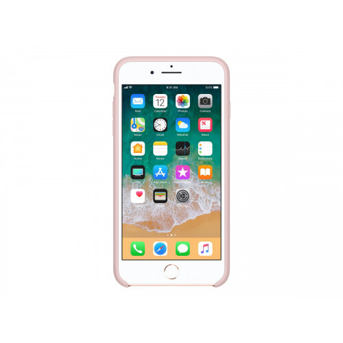 Apple - Back cover for mobile phone - silicone - pink sand - for iPhone 7 Plus, 8 Plus