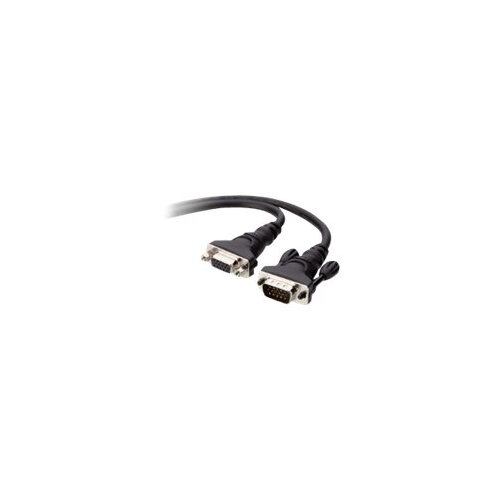 Belkin - VGA extension cable - HD-15 (F) to HD-15 (M) - 3 m - stranded, thumbscrews