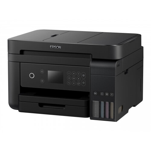 Epson EcoTank ET-3750 - Multifunction printer - colour - ink-jet - A4/Legal (media) - up to 33 ppm (printing) - 150 sheets - USB, LAN, Wi-Fi