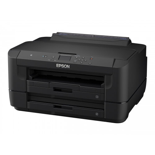 Epson WorkForce WF-7210DTW - Printer - colour - Duplex - ink-jet - A3 - 4800 x 2400 dpi - up to 32 ppm (mono) / up to 20 ppm (colour) - capacity: 500 sheets - USB, LAN, Wi-Fi