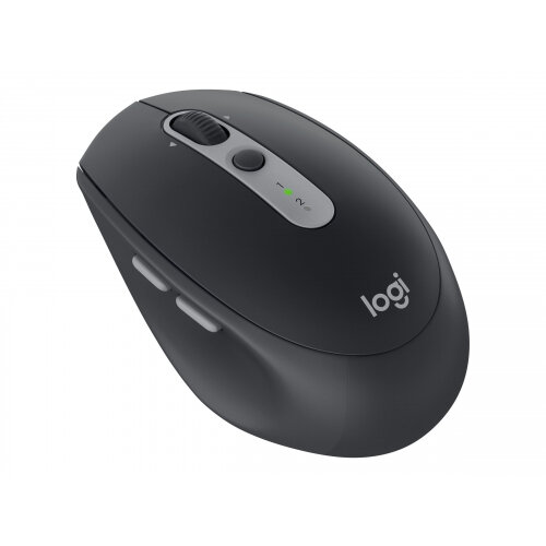 Logitech M590 Silent - Mouse - right-handed - optical - 7 buttons - wireless - Bluetooth, 2.4 GHz - USB wireless receiver - graphite tonal