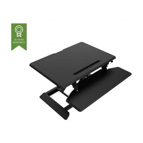 Vision VSS-1 Sit-Stand Desk Riser - Small - stand for LCD display / keyboard / mouse / tablet - steel - black/dark grey - desktop stand