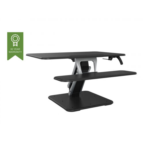 Vision VSS-2 Sit-Stand Desk Riser - Small - stand for LCD display / keyboard / mouse / tablet - aluminium, steel - black/dark grey - desktop stand