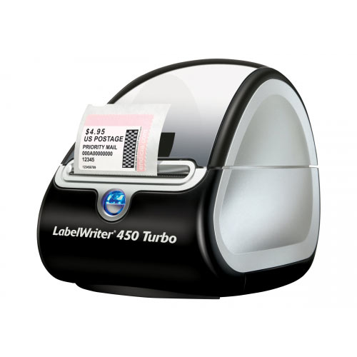 DYMO LabelWriter 450 Turbo - Label printer - thermal paper - Roll (6.2 cm) - 600 x 300 dpi - up to 71 labels/min - USB