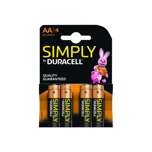 Duracell Simply MN1500B4S - Battery 4 x AA type - Alkaline
