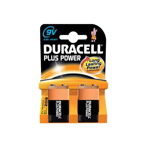 Duracell - Battery 2 x 9V Alkaline 580 mAh