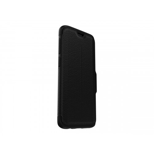 OtterBox Strada Series Folio Samsung Galaxy S9 - Flip cover for mobile phone - leather, polycarbonate - shadow black