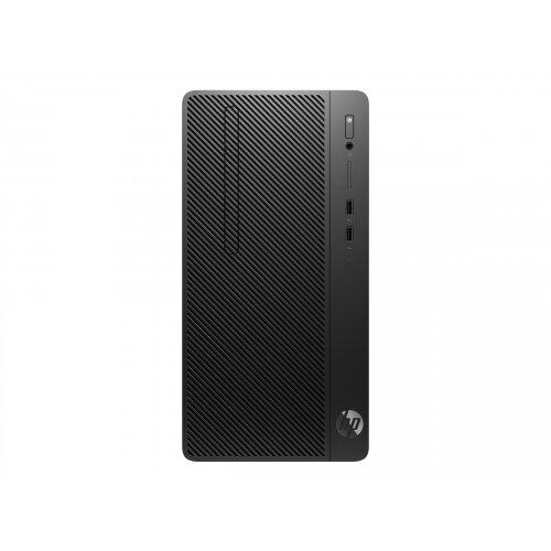 HP 290 G2 - Micro Tower Desktop PC - 1 x Core i3 8100 / 3.6 GHz - RAM 4 GB - SSD 256 GB - NVMe - DVD-Writer - UHD Graphics 630 - GigE - Win 10 Pro 64-bit - monitor: none - keyboard: UK