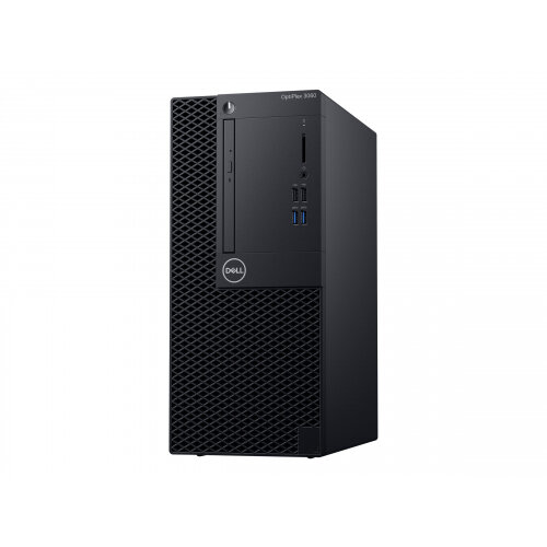 Dell OptiPlex 3060 - Mini Tower Desktop PC - 1 x Core i3 8100 / 3.6 GHz - RAM 4 GB - HDD 500 GB - DVD-Writer - UHD Graphics 630 - GigE - Win 10 Pro 64-bit - monitor: none - BTS