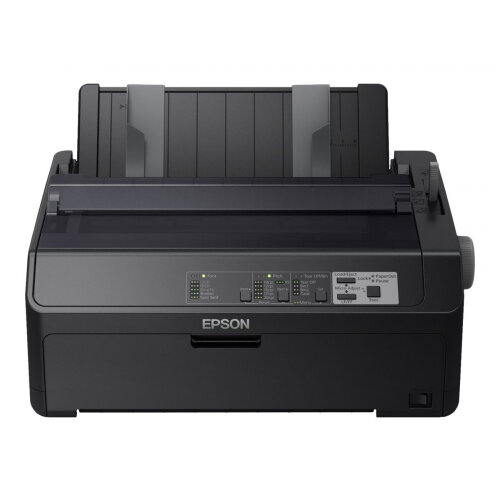Epson FX 890IIN - Printer - monochrome - dot-matrix - Roll (21.6 cm), JIS B4, 254 mm (width) - 240 x 144 dpi - 9 pin - up to 738 char/sec - parallel, USB 2.0, LAN