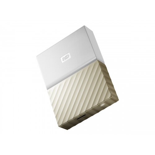 WD My Passport Ultra WDBFKT0040BGD - Hard drive - encrypted - 4 TB - external (portable) - USB 3.0 - 256-bit AES - white-gold