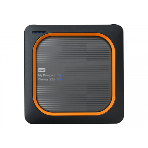 WD My Passport Wireless SSD WDBAMJ5000AGY - Wireless mobile storage - 500 GB - SSD 500 GB x 1 - USB 3.0 / 802.11ac
