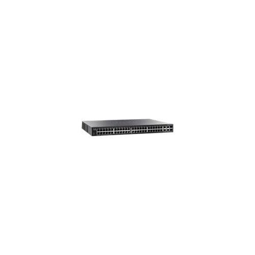Cisco Small Business SG300-52P - Switch - L3 - Managed - 50 x 10/100/1000 (PoE+) + 2 x combo Gigabit SFP - desktop, rack-mountable - PoE+ (375 W)