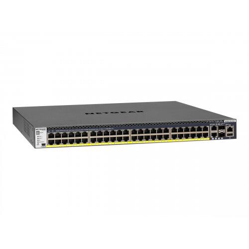 NETGEAR M4300-52G-PoE+ - Switch - L3 - Managed - 2 x 10/100/1000/10000 + 2 x 10 Gigabit SFP+ + 48 x 10/100/1000 (PoE+) - rack-mountable - PoE+ (860 W)
