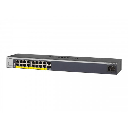 NETGEAR GS418TPP - Switch - L3 Lite - smart - 16 x 10/100/1000 (PoE+) + 2 x SFP - desktop, rack-mountable - PoE+ (240 W)