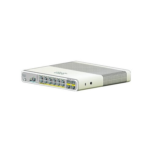 Cisco Catalyst Compact 2960C-12PC-L - Switch - Managed - 12 x 10/100 (PoE) + 2 x shared Gigabit SFP - desktop, rack-mountable, wall-mountable - PoE