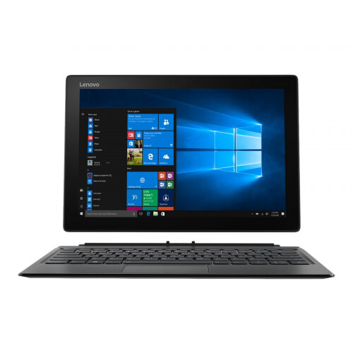 "Lenovo Miix 520-12IKB 20M3 - Tablet - with detachable keyboard - Core i7 8550U / 1.8 GHz - Win 10 Pro 64-bit - 16 GB RAM - 1 TB SSD - 12.2"" IPS touchscreen 1920 x 1200 - UHD Graphics 620 - Wi-Fi, Bluetooth - 4G - iron grey"