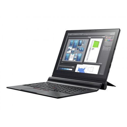 "Lenovo ThinkPad X1 Tablet 20KJ - Tablet - with detachable keyboard - Core i7 8550U / 1.8 GHz - Win 10 Pro 64-bit - 16 GB RAM - 512 GB SSD TCG Opal Encryption 2, NVMe - 13"" IPS touchscreen 3000 x 2000 (QHD+) - UHD Graphics 620 - Wi-Fi, Bluetooth - black"