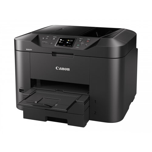 Canon MAXIFY MB2755 - Multifunction printer - colour - ink-jet - A4 (210 x 297 mm), Legal (216 x 356 mm) (original) - A4/Legal (media) - up to 22 ppm (copying) - up to 24 ipm (printing) - 500 sheets - 33.6 Kbps - USB 2.0, LAN, Wi-Fi(n), USB host