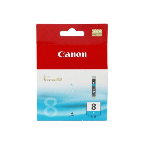 Canon CLI-8C - Cyan - original - ink tank - for PIXMA iP3500, iP4500, iP5300, MP510, MP520, MP610, MP960, MP970, MX700, MX850, Pro9000