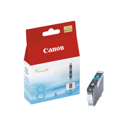Canon CLI-8PC - Photo cyan - original - ink tank - for PIXMA iP6600D, iP6700D, MP950, MP960, MP970, Pro9000, Pro9000 Mark II