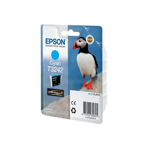 Epson T3242 - 14 ml - cyan - original - ink cartridge - for SureColor P400, SC-P400