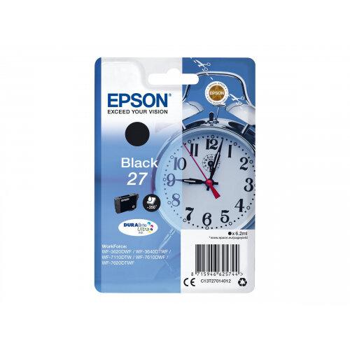 Epson 27 - 6.2 ml - black - original - blister with RF/acoustic alarm - ink cartridge - for WorkForce WF-3620, WF-3640, WF-7110, WF-7610, WF-7620, WF-7715, WF-7720