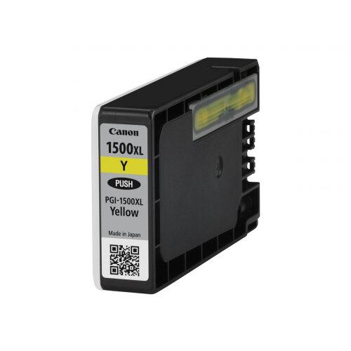 Canon PGI-1500XL Y - 12 ml - High Yield - yellow - original - ink tank - for MAXIFY MB2050, MB2150, MB2155, MB2350, MB2750, MB2755