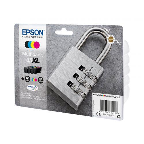 Epson 35XL Multipack - 4-pack - XL - black, yellow, cyan, magenta - original - blister with RF/acoustic alarm - ink cartridge - for WorkForce Pro WF-4720, WF-4720DWF, WF-4725DWF, WF-4730, WF-4740, WF-4740DTWF