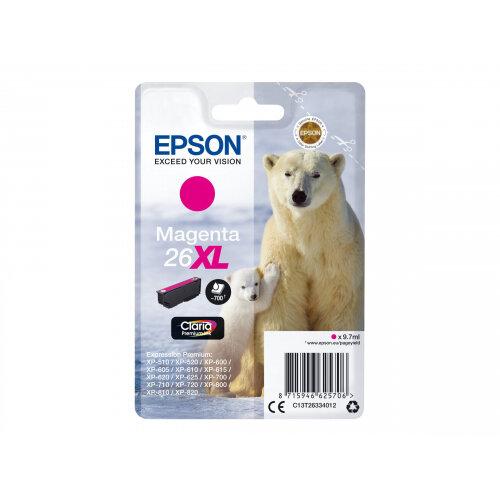 Epson 26XL - 9.7 ml - XL - magenta - original - blister - ink cartridge - for Expression Premium XP-510, 520, 600, 605, 610, 615, 620, 625, 700, 710, 720, 800, 810, 820