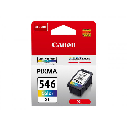 Canon CL-546XL - 13 ml - High Yield - colour (cyan, magenta, yellow) - original - ink cartridge - for PIXMA MG2550, MG2555, MG2950, MG3050, MG3051, MG3052, MG3053, TS205, TS305, TS3150, TS3151